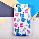 Meow Cat Pattern Case For iPhone Or Samsung Galaxy