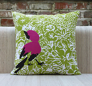 Bird In A Bush Cushion Cover