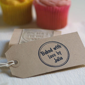 Personalised 'Baked With Love By..' Stamp