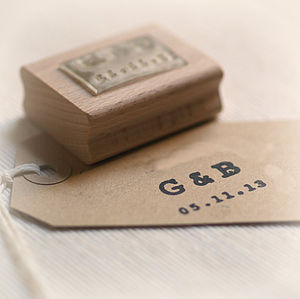 Personalised Initials And Date Stamp - stickers & stamps