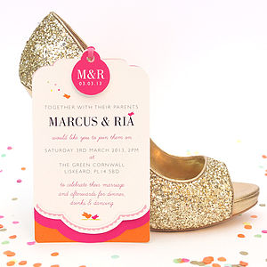 Cute As Candy Luxe Invitation Set - invitations
