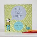 Personalised 'My Teacher Is Brilliant' Book