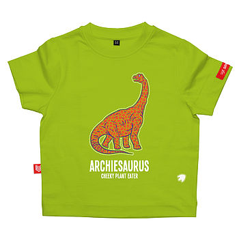 sgt.smith personalised dinosaur t-shirt in green