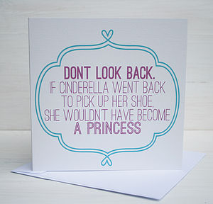 'Dont Look Back' Card - shop by category