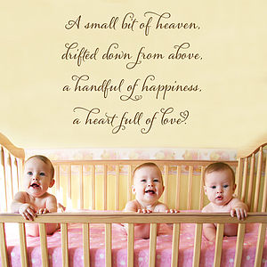 'A Small Bit Of Heaven' Childrens Wall Quote