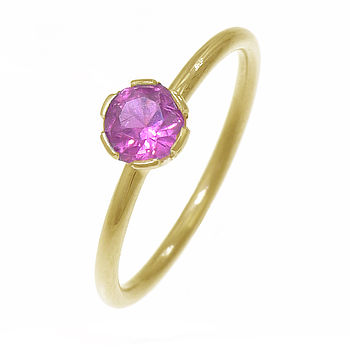 Birthstone Stacking Ring In 18ct Gold