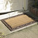 Cast Iron & Coir Rectangular Door Mat