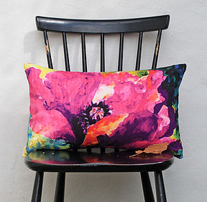 Myriad Painterly Floral Cushion - patterned cushions