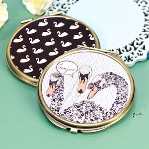 Hola Swan Compact Mirror - mother's day gifts