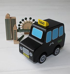 Wooden London Taxi - traditional toys & games