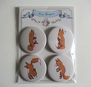 Dancing Fox Badge Pack - party bags and ideas