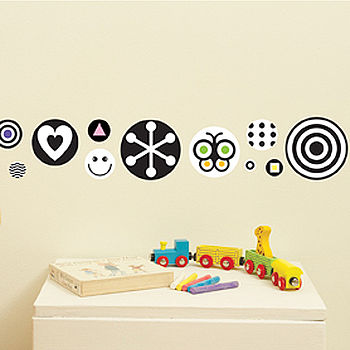 Black & White Dots Wall Stickers
