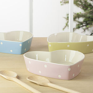 Spotty Heart Baking Dish - gifts for the home