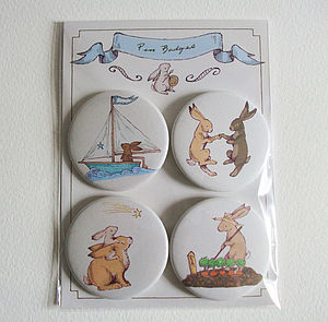 Busy Hares Badge Pack