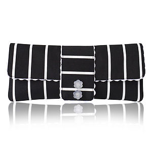 Amelia Stripe Clutch
