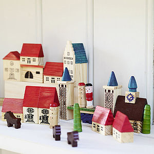 Wooden Play Village - traditional toys & games