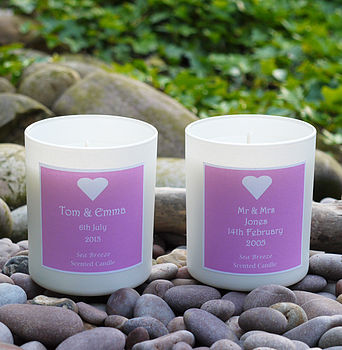 Personalised 'Wedding' Scented Candle