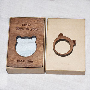 Bearyl The Bear Wood Ring - rings