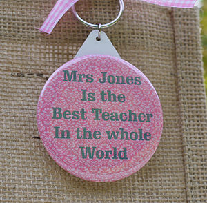 Personalised 'Teacher' Key Ring