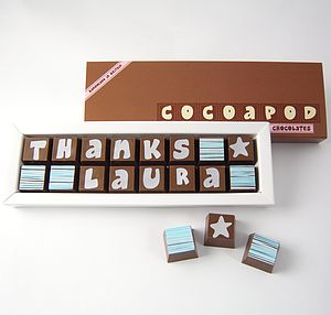 Personalised Chocolates To Say THANK YOU - special work anniversary gifts