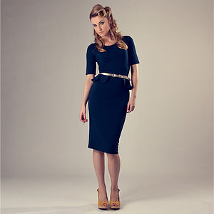 Fitted Peplum Dress 'Gwen' - women's fashion