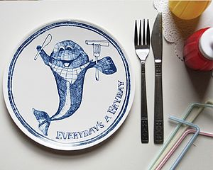 'Everyday's A Fry Day' Chippy Plate - crockery & chinaware