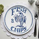 'Fish & Chips' Chippy Plate