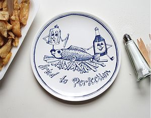 'Fried To Perfection' Chippy Plate - shop by price