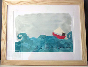 'Owl At Sea' Picture Range - pictures & prints for children