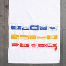 Ketchup Mayo And Mustard Sachet Tea Towel