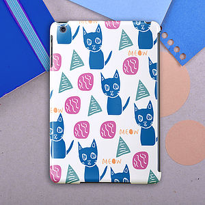 Meow Cat Pattern For iPad / Mini / Air Case