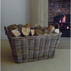 Large Log Basket - fireplace accessories