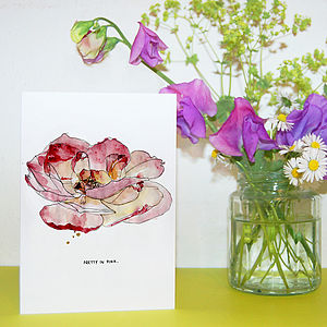 'Pretty In Pink' Floral Mother's Day Card