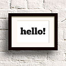 'Hello' Print