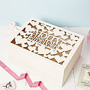 Personalised Heart Baby Keepsake Box