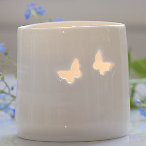 Porcelain Flutter Tea Light - votives & tea light holders