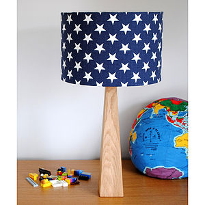 Handmade Blue Stars Table Lamp