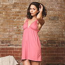 Coral Organic Nightie And Knicker Set