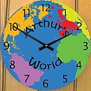 Children's World Map Clock