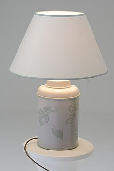 Fabulous Hand Painted Vintage Floral Lamp