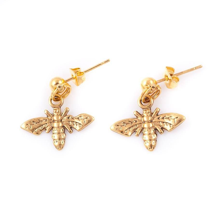 small bee earrings by francesca rossi designs | notonthehighstreet.com