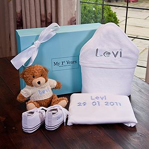 Personalised White Luxury Gift Set - maternity essentials