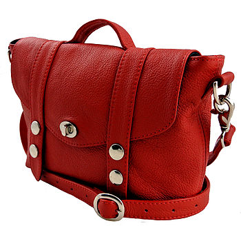 Red Mini 'Satchel' Handbag