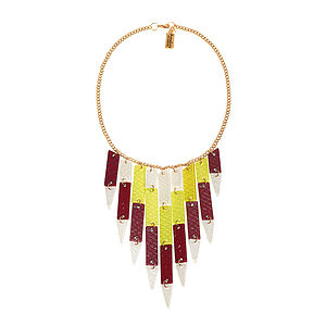 Feather Lucite Necklace