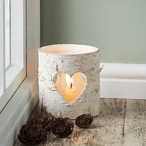 Birch Bark Candle Holder - forest palette