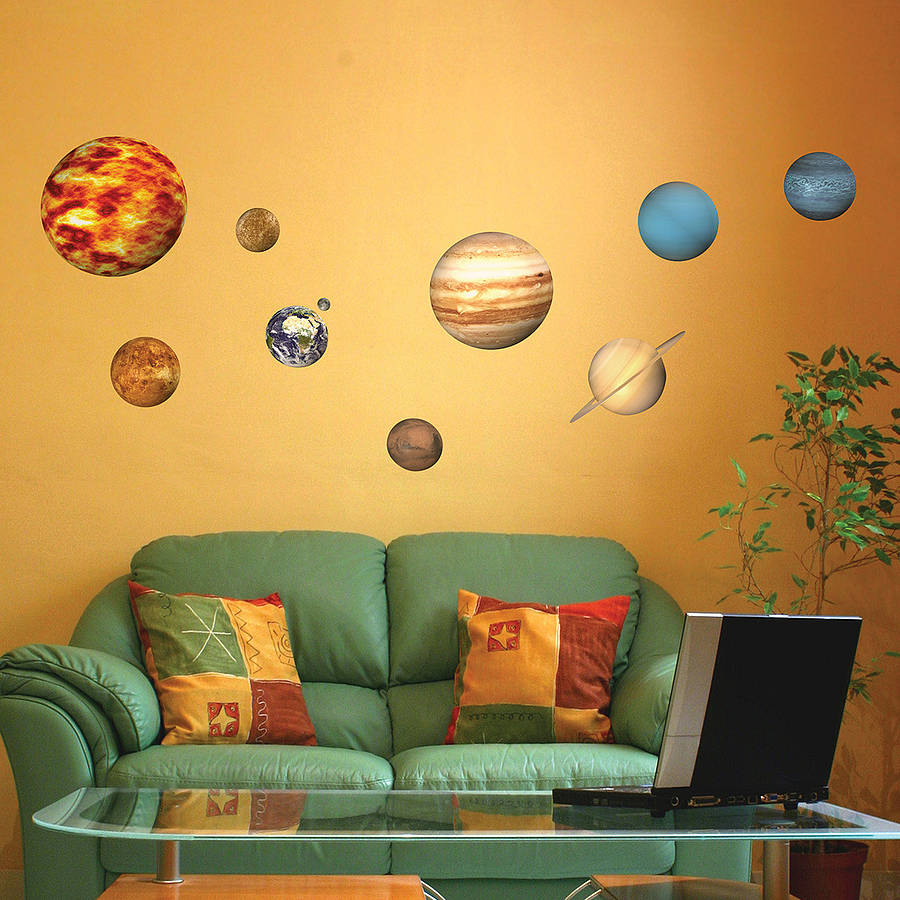 Solar System Planets Wall Sticker