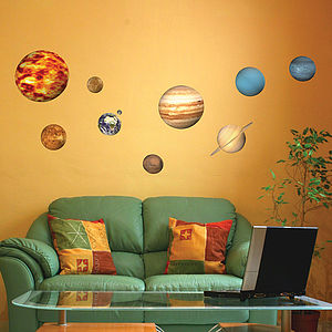 Solar System Planets Wall Sticker - decorative accessories