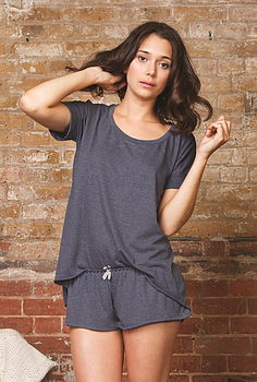Denim T Shirt And Short Set Organic Cotton