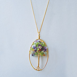 Branching Out Gemstone Tree Necklace