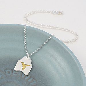 Hummingbird Gold Silver Pendant Necklace